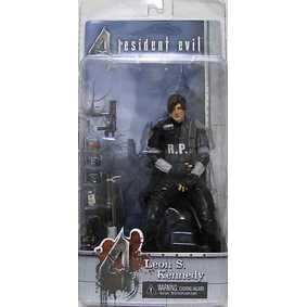 Boneco Resident Evil 4 Leon Kennedy RCPD Neca Action Figures