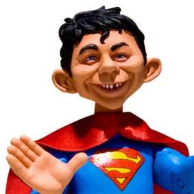 Boneco Revista MAD Superman DC Direct Collectibles Just Us League Heroes