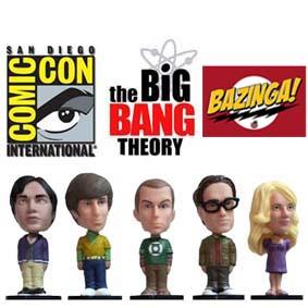 Boneco Sheldon Cooper, Leonard Hofstadter, Penny, Hovard Holowitz e Rajesh Kothrappali