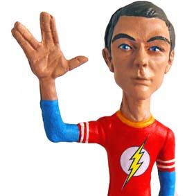 Boneco Sheldon Cooper : Live long and prosper (Spock Star Trek)