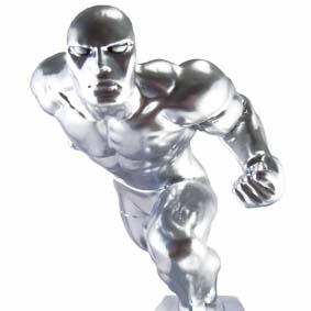 o Surfista Prateado ( Silver Surfer Statue ) em resina