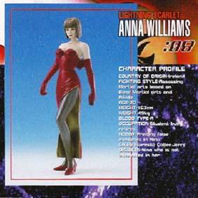 Boneco Tekken 3 - Anna Williams (aberto)