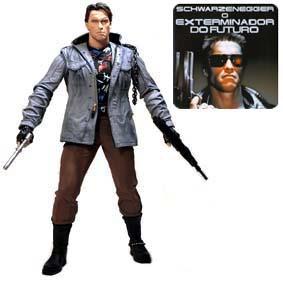 Boneco Terminator 1 T-800 Tech Noir ( Arnold Schwarzenegger ) Neca Action Figures