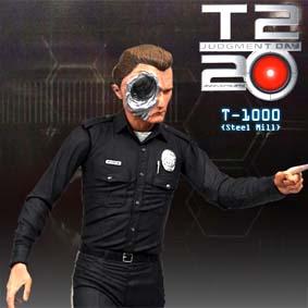 Boneco Terminator Collection ( Steel Mill T-1000 ) série 2 Neca Toys Brasil