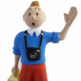 Boneco Tintin com mala