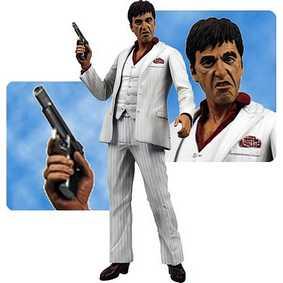 Boneco Tony Montana do filme Scarface com som da Neca Toys ( Al Pacino )