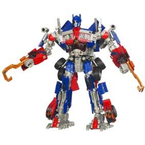 Boneco Transformers 2 Hunt Decepticons Leader Optimus Prime (aberto) da Hasbro