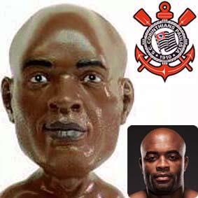 Boneco UFC Anderson Silva oficial do Corinthians com base octógono