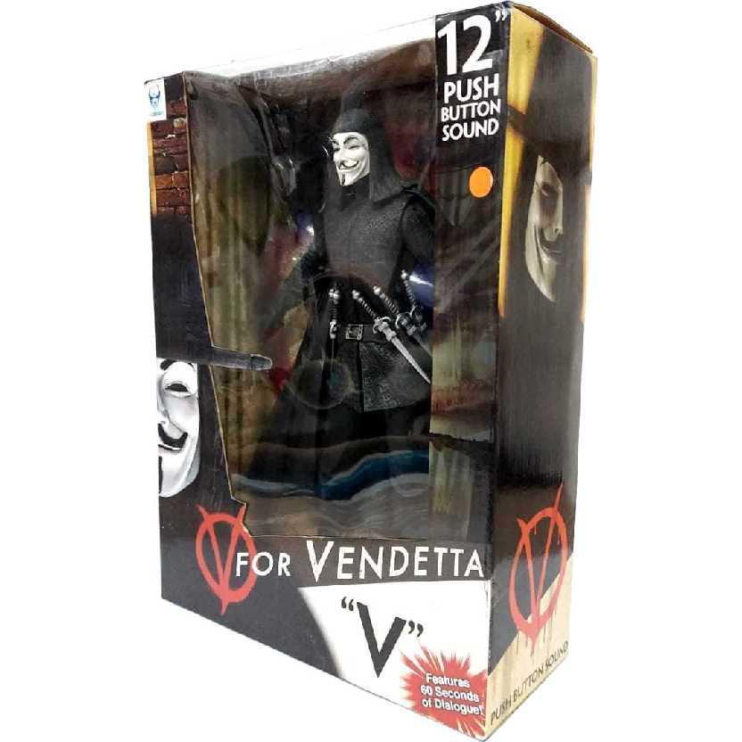 Boneco V de Vingança com som NECA V for Vendetta Action Figures