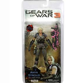 Boneco Variant Gears of War 3 Anya Stroud Pink Lancer Limited Edition 1000 pçs