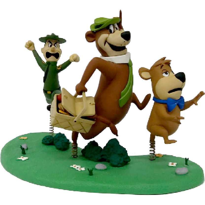 Boneco Zé Colméia, Catatau e Guarda Chico (aberto) Hanna Barbera McFarlane Toys