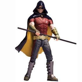 Bonecos Batman Arkham City DC Direct :: Boneco do Robin (aberto)