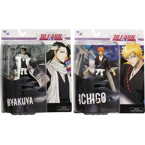 Bonecos Bleach Ichigo Kurosaki e Byakuya Kuchiki (Dupla)
