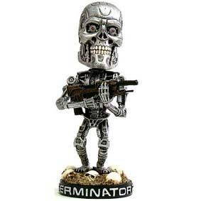 Bonecos bobble head Terminator 2 Endoskeleton Head Knocker Bobble Head