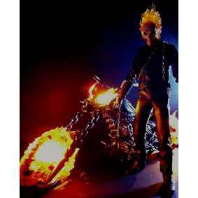 Bonecos da Hot Toys Motoqueiro Fantasma ( Nicolas Cage ) Ghost Rider