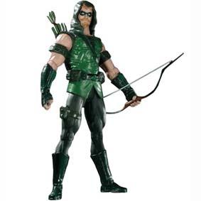 Bonecos DC Comics Brightest Day s1 / Boneco Arqueiro Verde (Green Arrow)