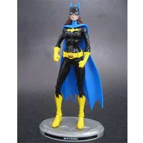 Bonecos DC Universe Batman Legacy Edition :: Batgirl com poster (aberto)