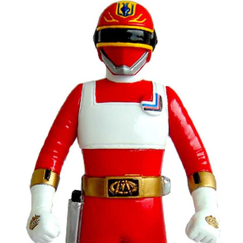 Bonecos do Esquadrão Relâmpago Changeman - Boneco Change Dragon vermelho