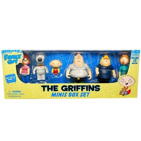 Bonecos do Family Guy - The Griffins Minis Box Set da Mezco