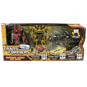 Bonecos do filme Transformers - Rampage, Bumblebee e Ravage