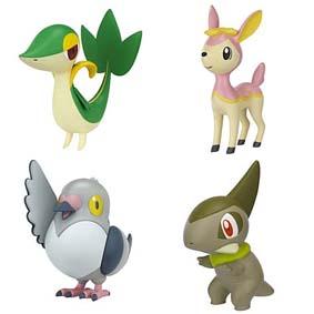 Bonecos do Pokemon Jakks Pacific :: Snivy, Axew, Deerling e Pidove