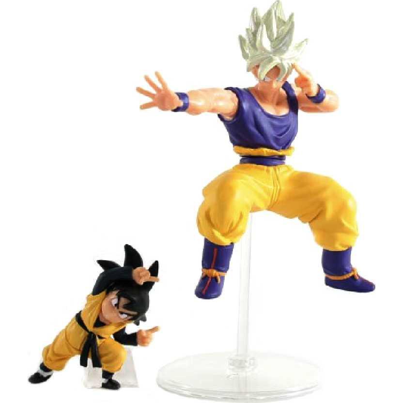 Bonecos Dragon Ball Z Goku e Goten HG Plus EX Action Pose Figure