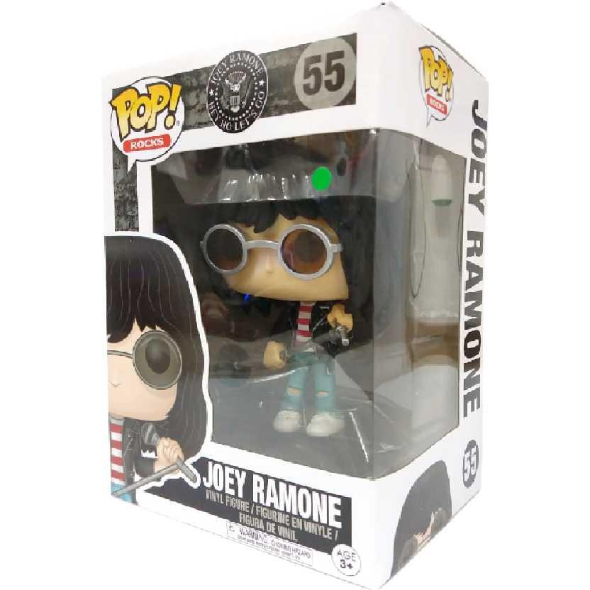 Bonecos Funko Pop! Rocks Joey Ramone vinyl figure número 55 Hey Ho Lets Go