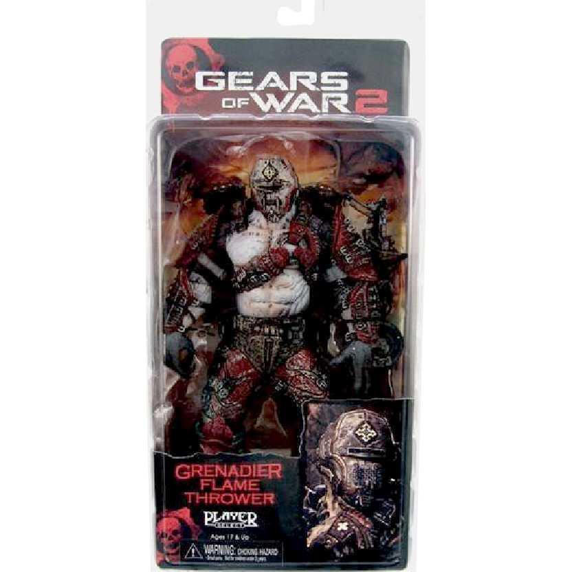 Bonecos Gears of War 2 Locust Grenadier Flamethrower (series 4)
