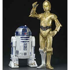 Bonecos Kotobukiya Star Wars ArtFX / Boneco C-3PO e R2-D2 escala 1/10
