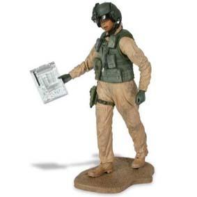 Bonecos McFarlane Toys Military Series 3 - Army Helicopter (aberto)