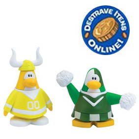 Bonecos Mix N Match Club Penguin Série 10 Líder de Torcida Time Verde e AM