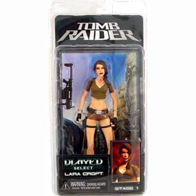 Bonecos Neca Played Select Lara Croft Tomb Raider Stage 1 (raro)