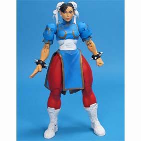 Bonecos Neca Toys Brasil Street Fighter IV Chun Li Action Figure (aberto)