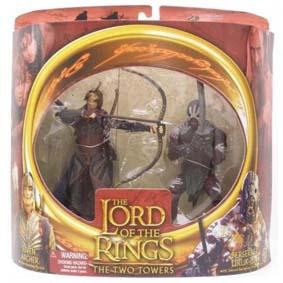 Bonecos O Senhor dos Anéis Elven Archer vs Berserker Uruk-Hai