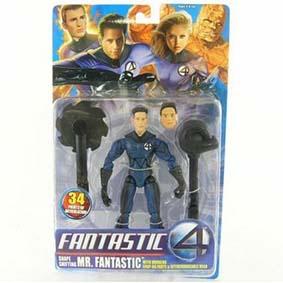 Bonecos Quarteto Fantástico Senhor Fantástico (Loan Gruffudd) Marvel