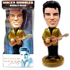 Bonecos Raros da Funko Elvis Presley 1950 Wacky Wobbler Bobble Head