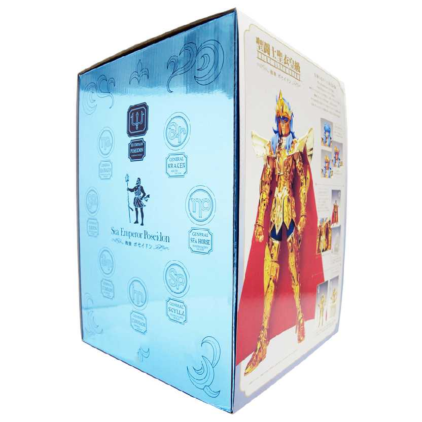Bonecos Saint Seiya Cloth Myth Crown Sea Emperor Poseidon Action Figure Bandai escala 1/6