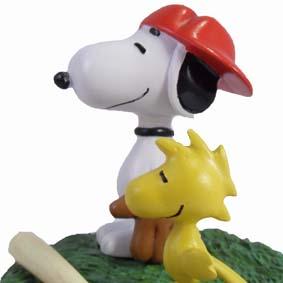 Bonecos Snoopy e Woodstock O treinador de baseball