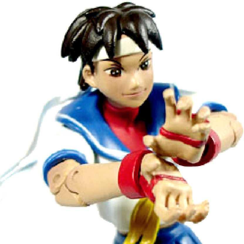 Bonecos Sota Toys Street Fighter Sakura série 3 (ABERTO)