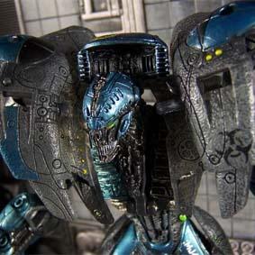 Bonecos Spawn Cyber Units Boneco Battle Unit 001 ( blue/azul )