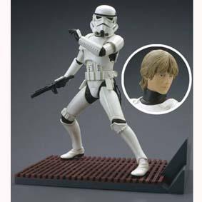 Bonecos Star Wars Kotobukiya Brasil Stormtrooper + cabeça do Luke (aberto)