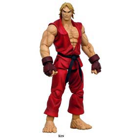 Bonecos Street Fighter marca Sota Toys Ken serie 2 (aberto)