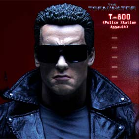 Bonecos Terminator Collection série 2 T-800 ( Police Station Assault ) Arnold