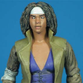 Bonecos The Walking Dead onde comprar Michonne (aberto)