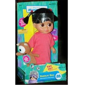 Boo com Mini Mikey + som (na caixa) Monstros S.A.