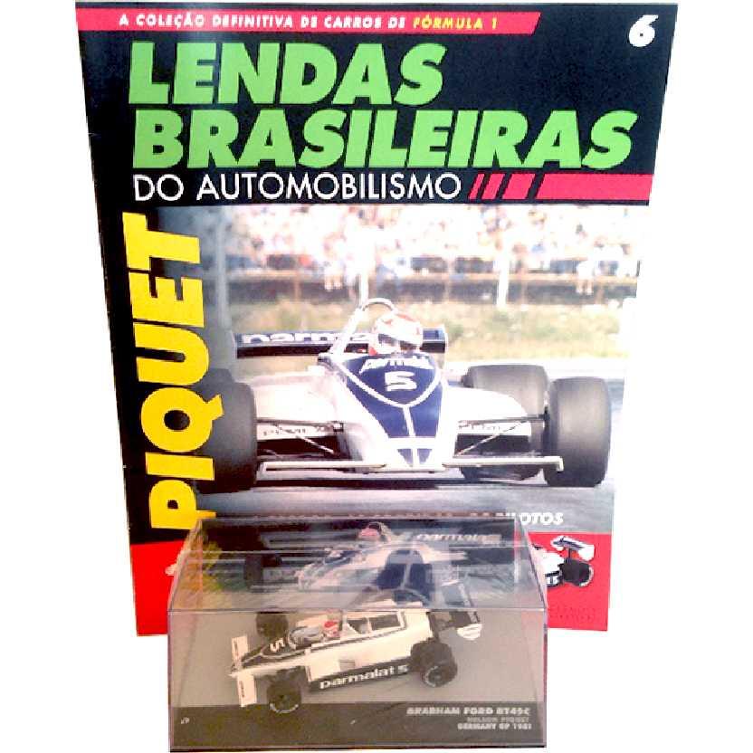 Brabham Ford BT49C Nelson Piquet Lendas Brasileiras #6 do Automobilismo escala 1/43