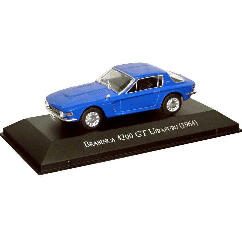 Brasinca 4200 GT Uirapuru 1964 Coleção Carros Inesquecíveis Do Brasil escala 1/43
