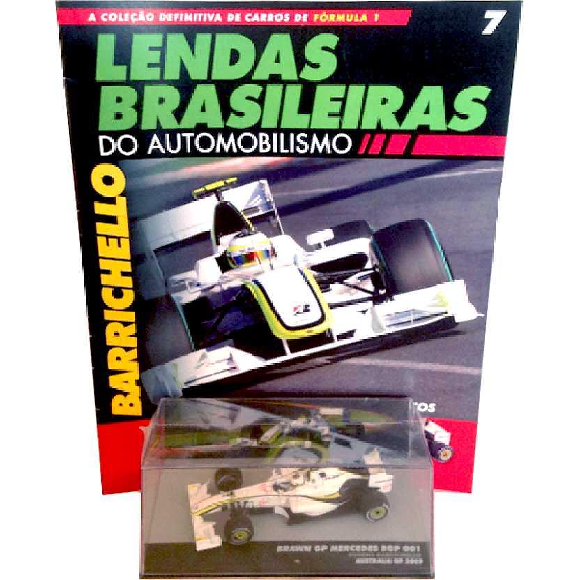 Brawn GP Mercedes BGP 001 Rubens Barrichelo Lendas Brasileiras #7 escala 1/43