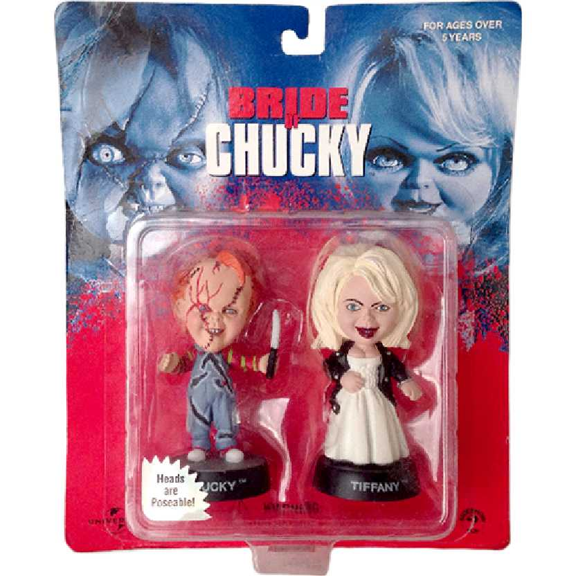 Bride of Chucky + Tiffany Big Heads are Poseable Sideshow Toys Raridade