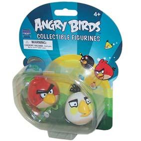 Brinquedo Angry Birds :: Boneco Angry Birds vermelho e branco